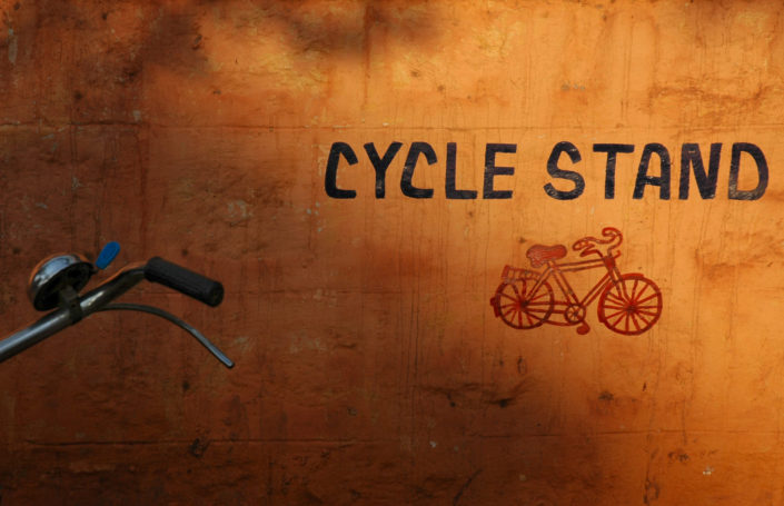 Bicycle parking in India