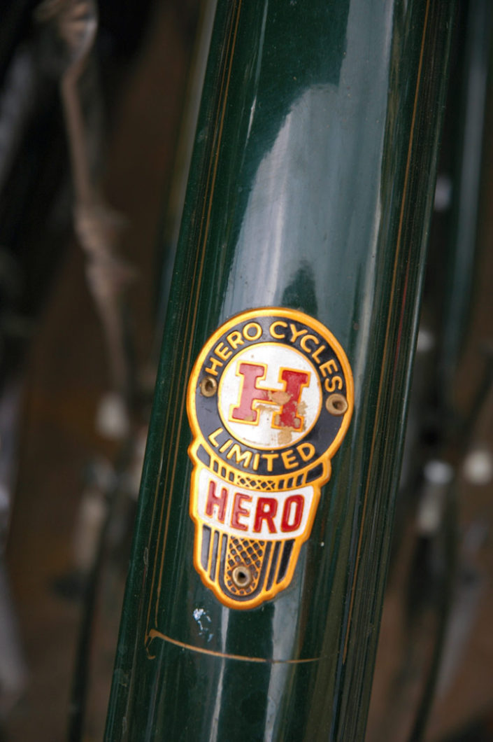 An Indian Hero bicycle fender