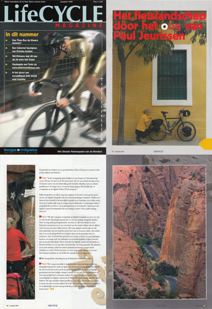 Interview with Paul Jeurissen plus photos in Koga's Lifecycle magazine