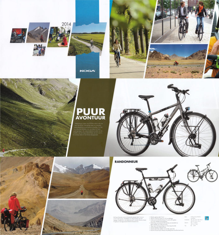 Paul's photos appear in the Koga 2014 bicycle catalogue
