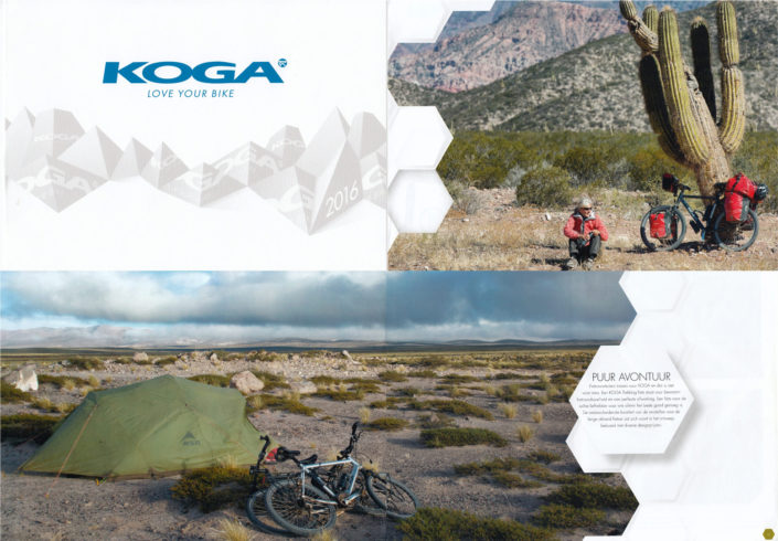 Argentina photos from Paul Jeurissen appear in the 2016 Koga bicycle catalogue.