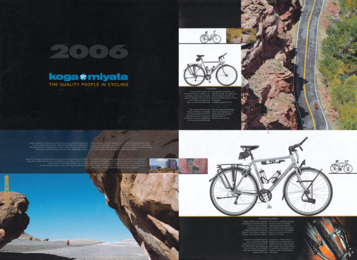 American Southwest photos from Paul Jeurissen appear in the 2006 Koga bicycles catalogue
