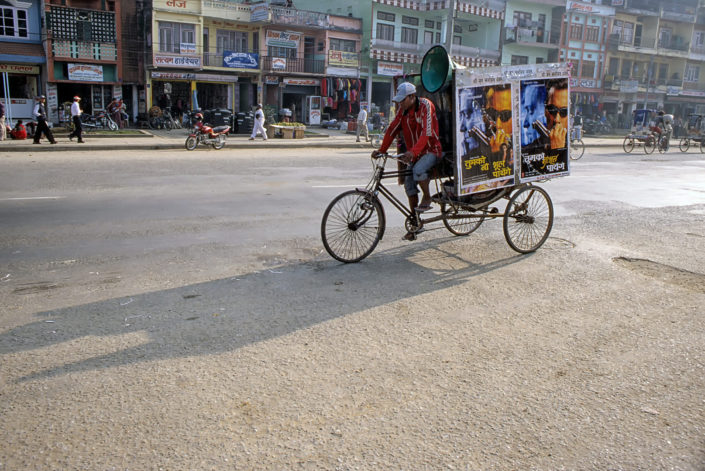 A cycling film advertisement in Nepal