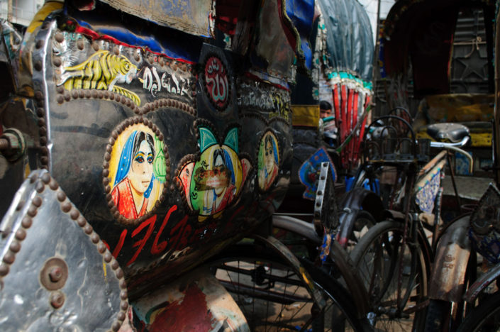 Decorated rickshaws in Bangladesh