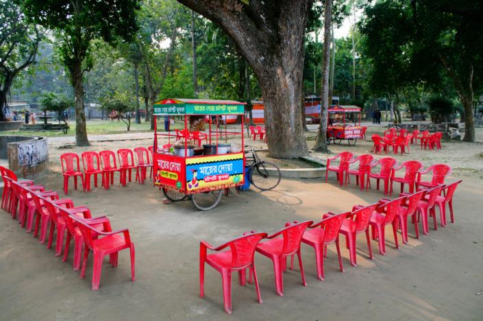 A rickshaw popup cafe in Mymensingh, Bangladesh.