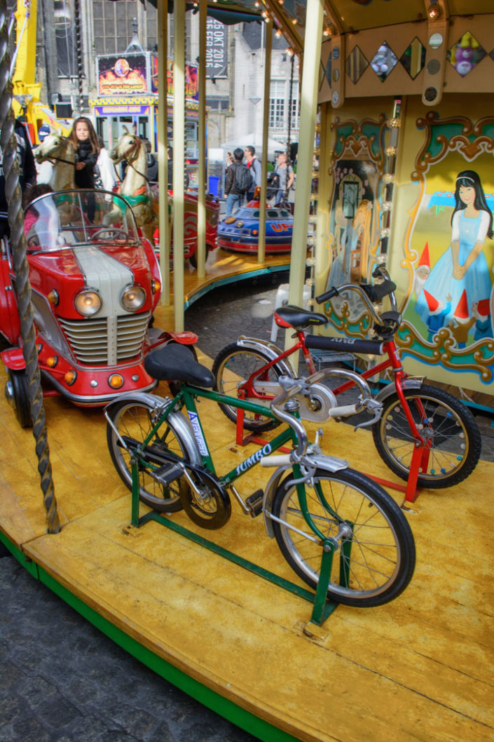 A bicycle fairground ride in Amsterdam