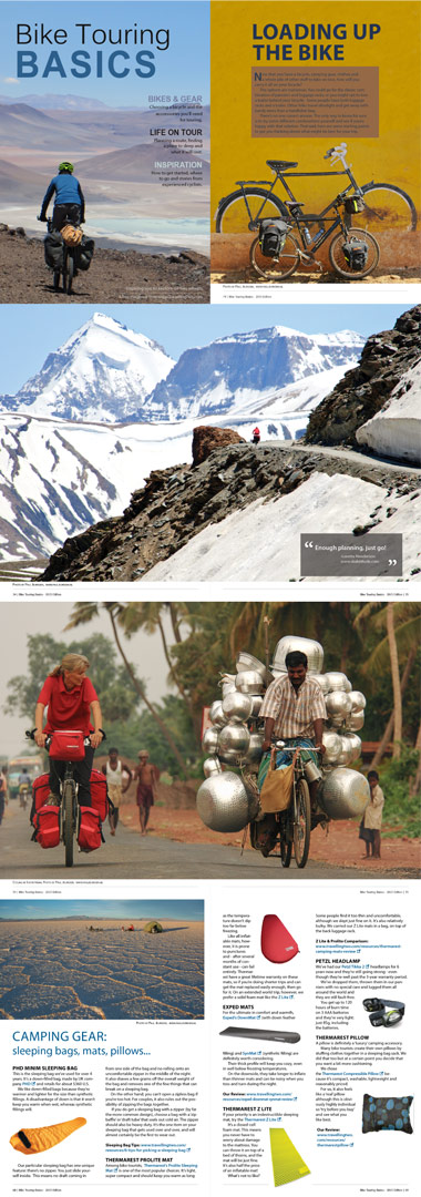 Two of Paul Jeurissen's cycling photos in Bike Touring Basics