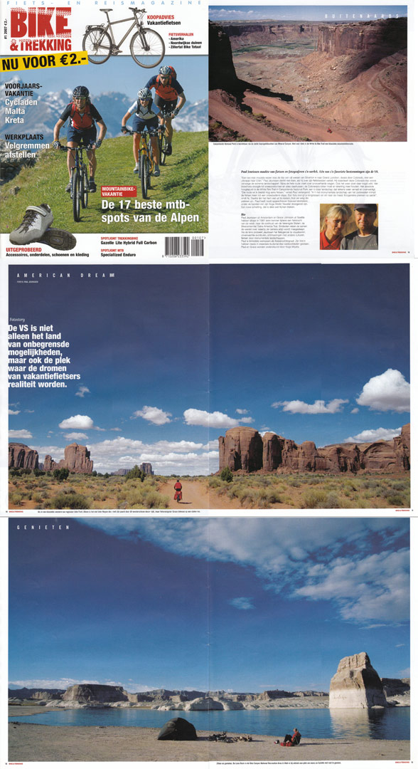 Paul's America cycling photos are published in Bike and Trekking.