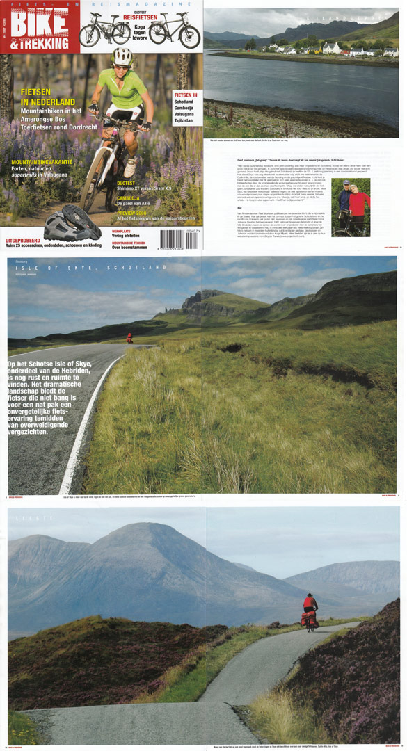 Paul's Scotland cycling photos are published in Bike and Trekking magazine