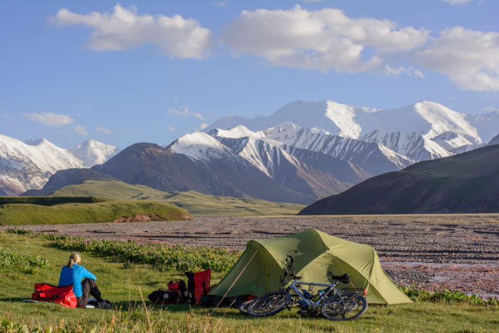Camping near the Kyrgyzstan border on the Pamir highway