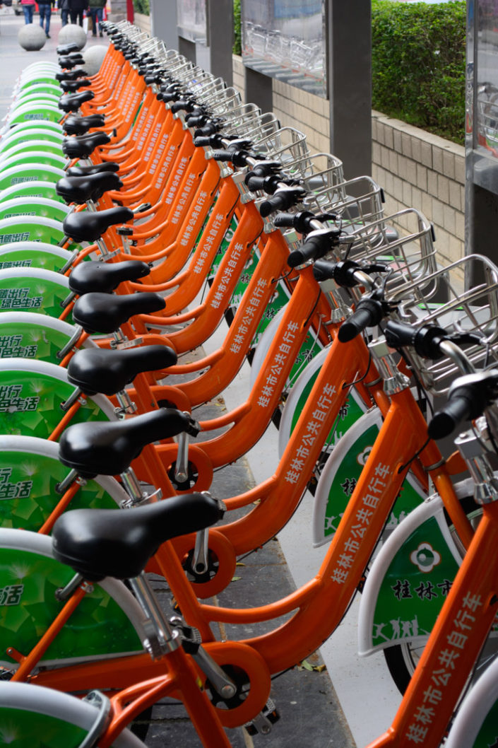 A bicycle share program in China