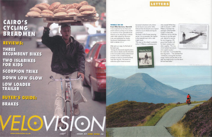 A Scotland cycling photo in Velo Vision magazine