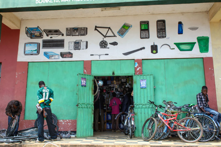 A Malawi bicycle shop