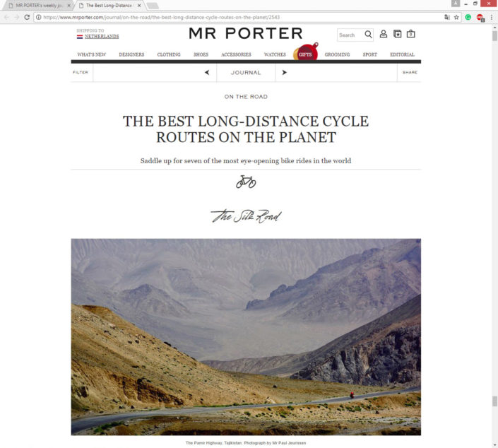 A Pamir photo in Mr. Porter.