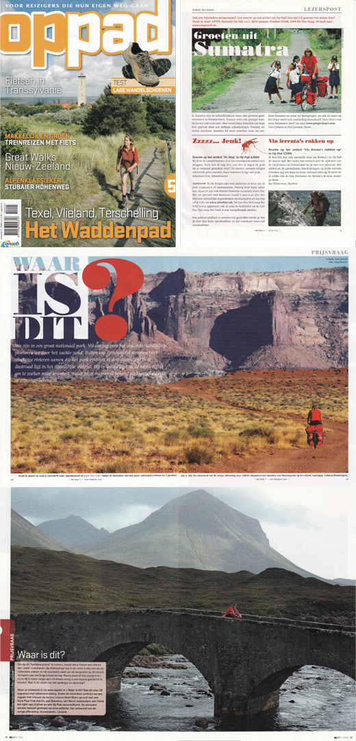 Paul Jeurissens bicycle touring photos in Op Pad magazine