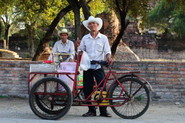 A cycling ice cream salesman in Thailand