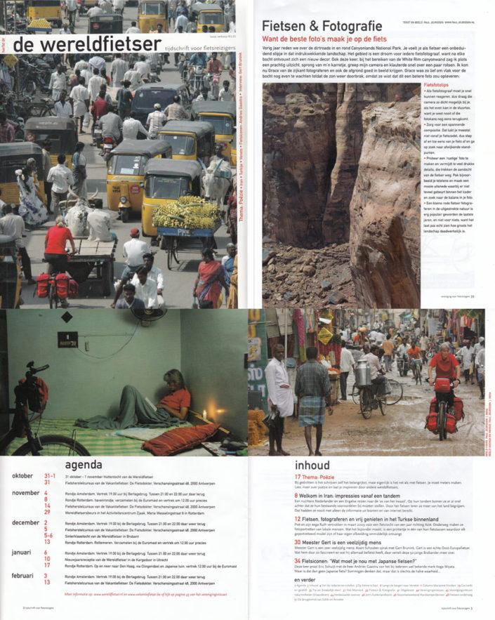 Paul Jeurissens photos appear in de Wereldfietser tijdschrift