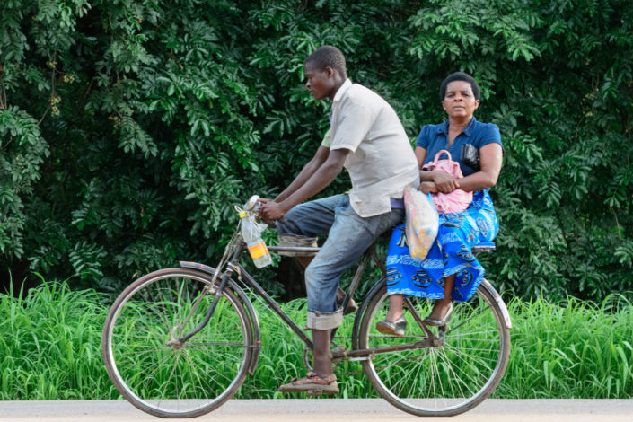 A bicycle boda boda races to its destination in Africa