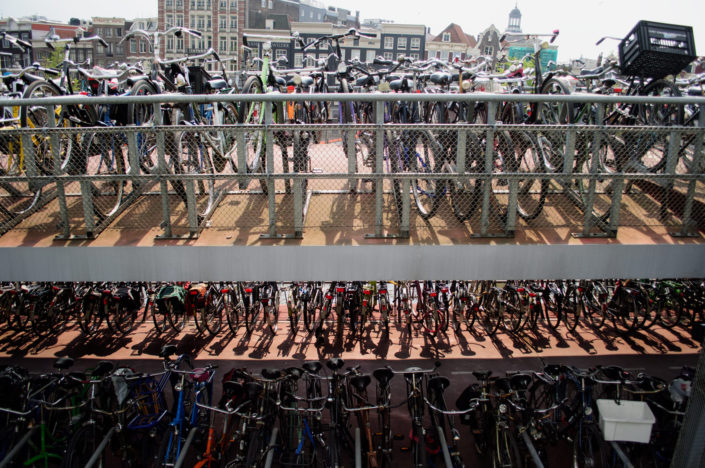 Fietsflat bicycle parking in front of Amsterdam Central train station