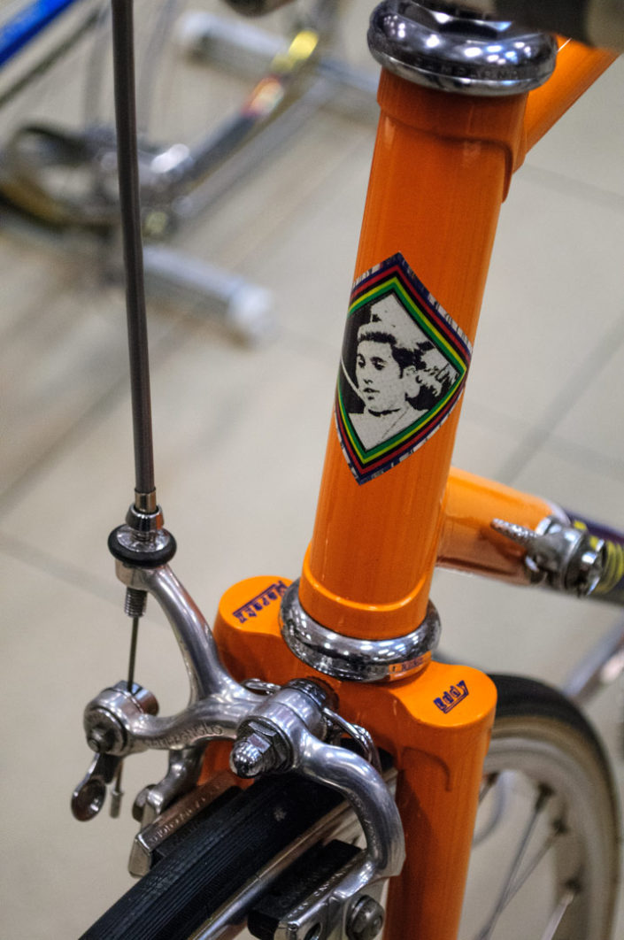 An old Eddy Merckx vintage racing bicycle.