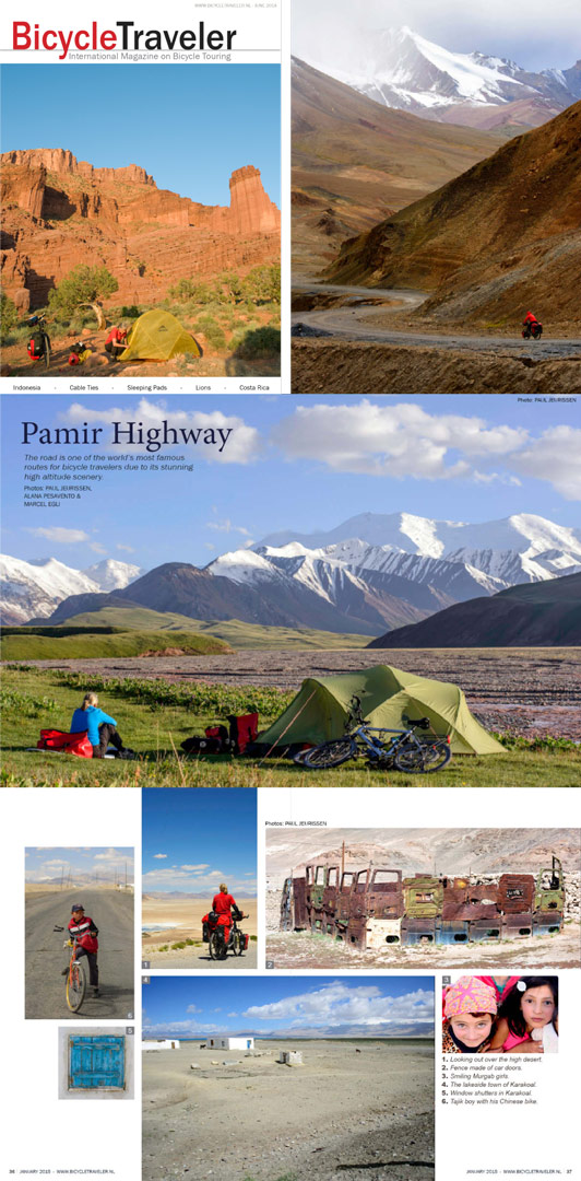 Paul Jeurissen's photos in Bicycle Traveler magazine