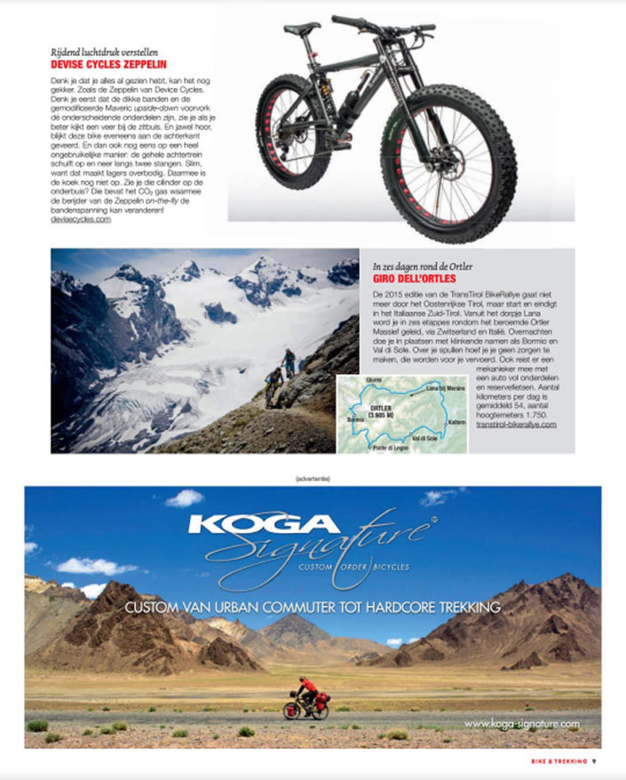 Magazine advertisement for Koga bicycles