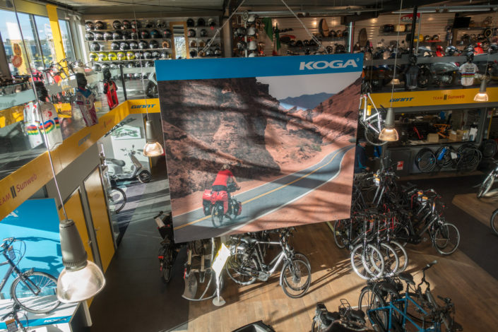 In-store display for Koga bikes