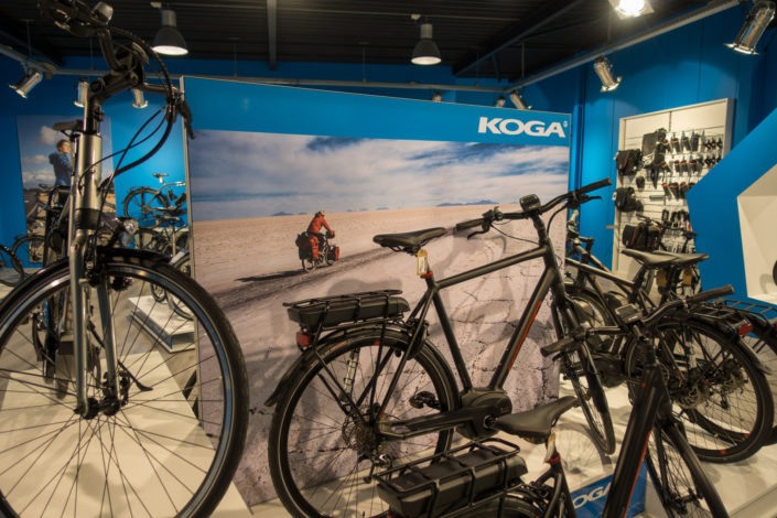 Koga bikes shop display for a dealer.