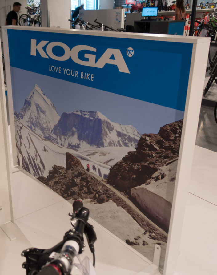 Koga in store display for touring bicycles