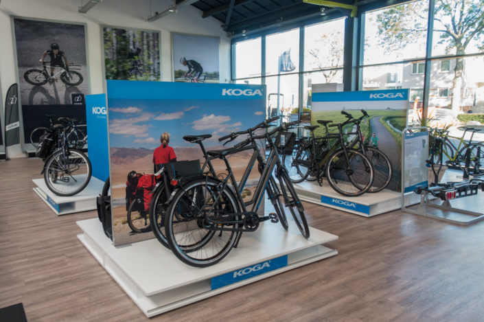 Paul Jeurissen's photo is used for an in-store display for Koga bikes.