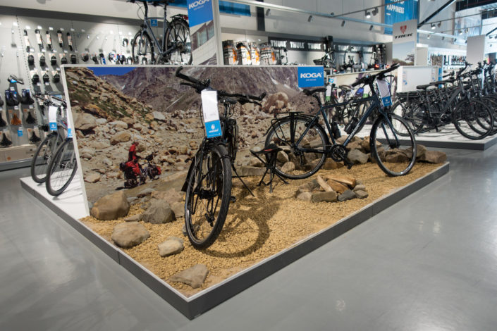 Trekking bike display photo for Koga bicycles