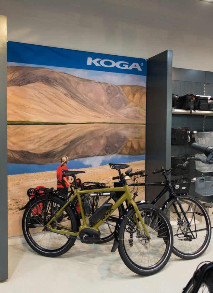 In-store display for Koga bicycles
