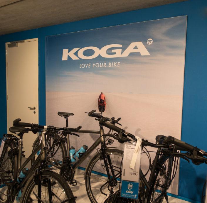 Salar fiets foto voor Koga bicycles.