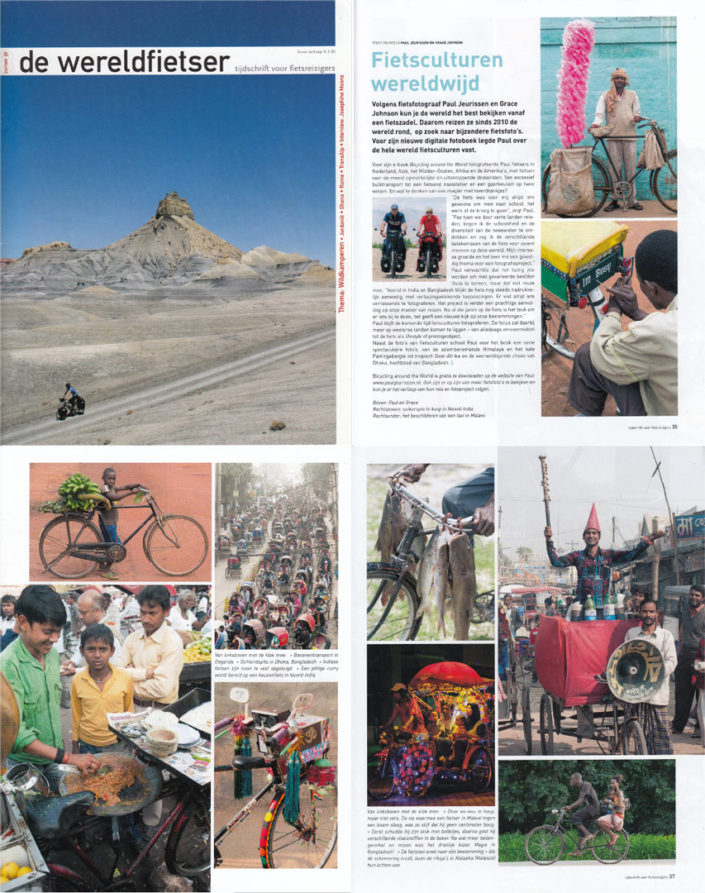 Paul's photos appear in the Wereldfietser magazine